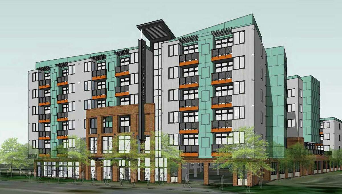 GSX Ventures A six-story, 206,756-square-foot apartment complex with 327 beds is being proposed at 1211 Western Ave., Albany.