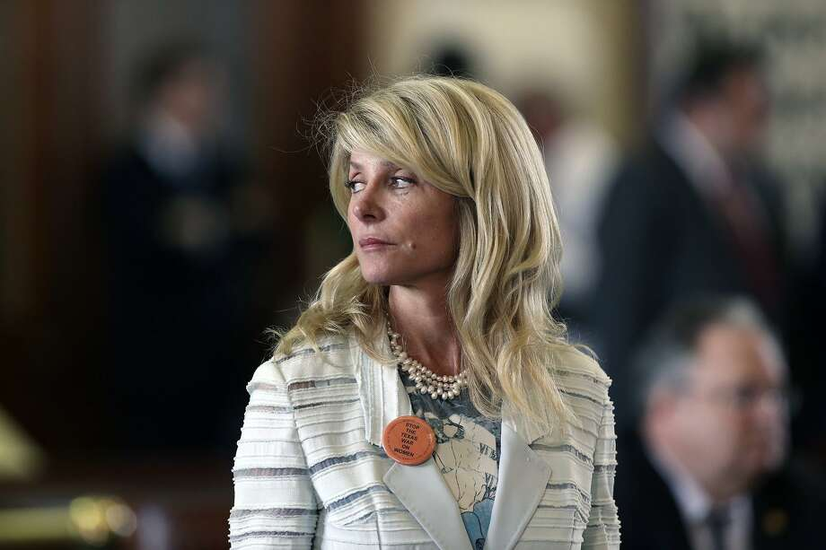 """Sandra Bullock will play former state Sen. Wendy Davis in a possible upcoming film called """"Let Her Speak,"""" about Davis' 13-hour filibuster to block the vote of an anti-abortion bill during the final hours of a 2013 special session of the Texas Legislature. Davis is shown during her filibuster. Photo: San Antonio Express-News File Photo"""