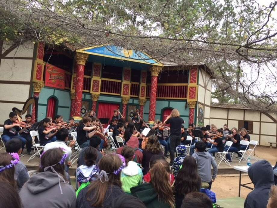 Musical students across Conroe ISD campuses participated in the Texas Renaissance Early Music Festival during the Texas Renaissance Festival's annual School Days. The musical competitions included choir, band and orchestra. Photo: Connie Horton