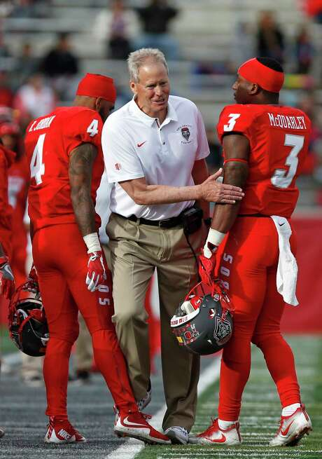 """New Mexico coach Bob Davie served as a linebackers coach and defensive coordinator at A&M in the prime of the Aggies' vaunted """"Wrecking Crew"""" defense. Photo: Andres Leighton, FRE / FR171260 AP"""