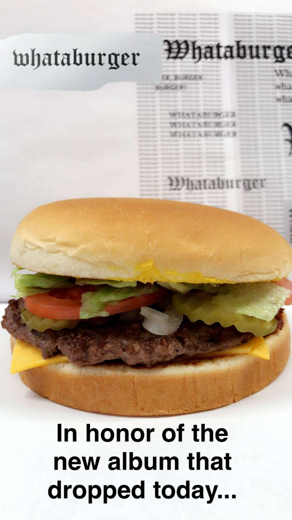 Whataburger channeled their inner Taylor Swift in honor of her dropping her new