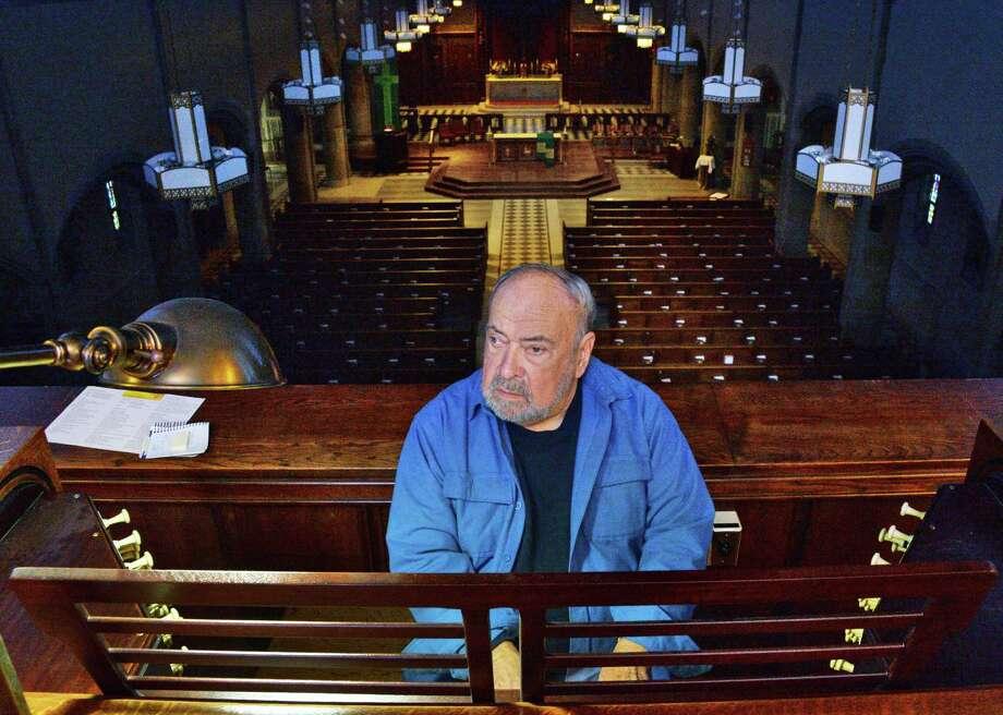 Donald Ingram at St Francis of Assisi Parish's 1931 organ Wednesday Nov. 8, 2017 in Albany, NY.  (John Carl D'Annibale / Times Union) Photo: John Carl D'Annibale / 20042087A