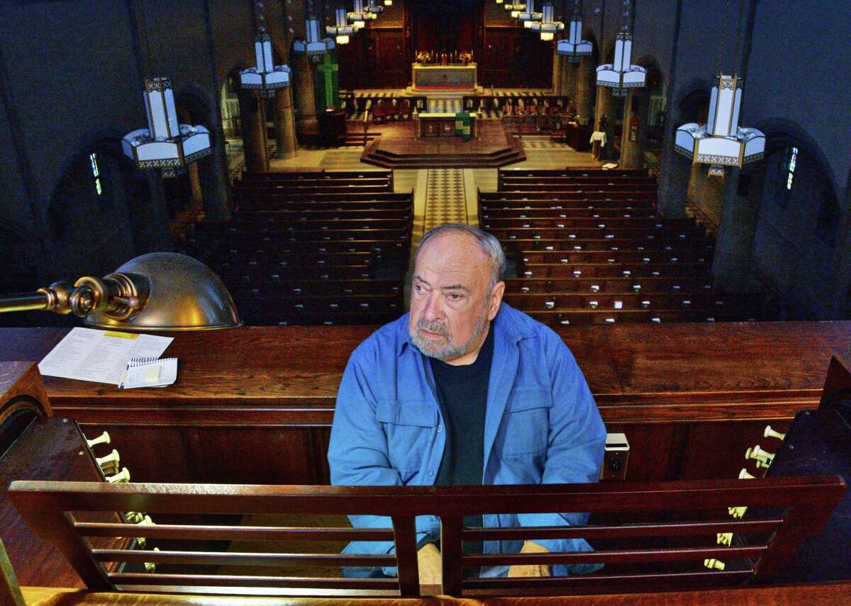 Donald Ingram at St Francis of Assisi Parish's 1931 organ Wednesday Nov. 8, 2017 in Albany, NY. (John Carl D'Annibale / Times Union)
