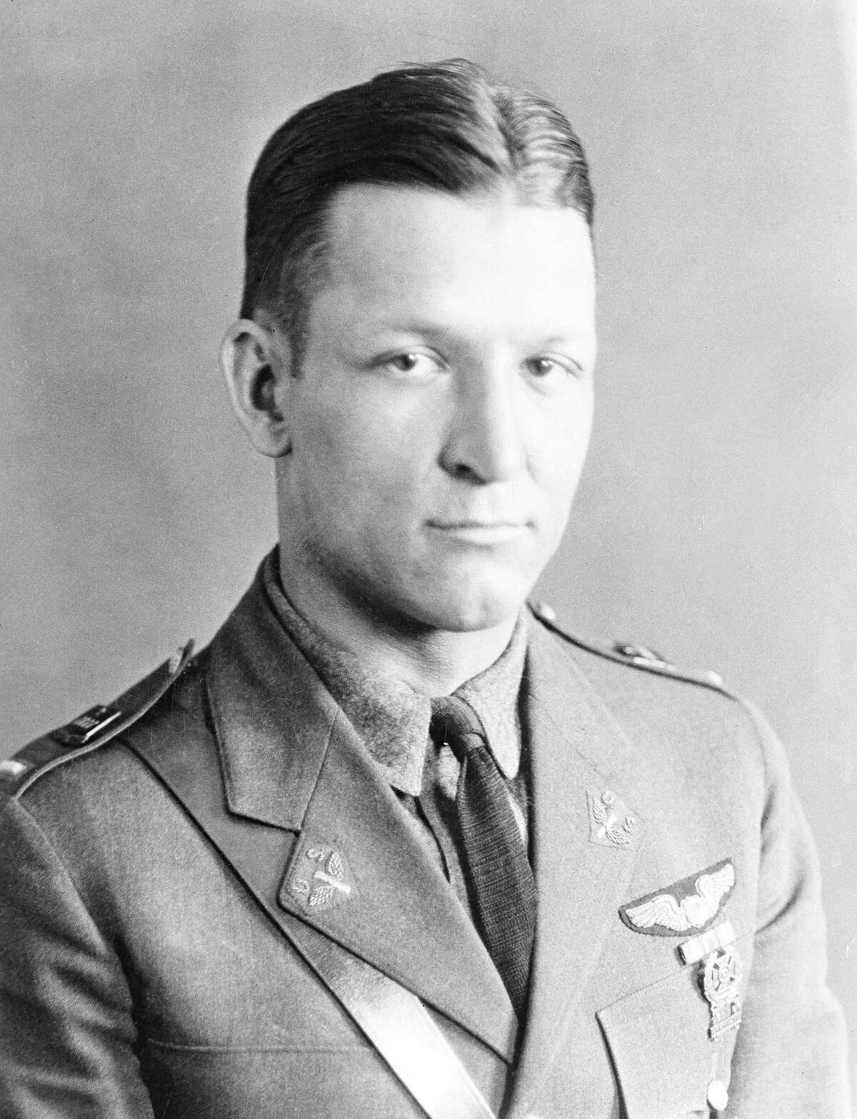 In this handout from the U.S. Air Force, Brig. Gen. Kenneth N. Walker of Glendale, Calif., is shown in this undated photo. Nearly 75 years after his father disappeared during a bombing mission over a remote Pacific island, Douglas Walker, the son of the highest-ranking recipient of the Medal of Honor still listed as missing from World War II, is pushing for renewed interest in finding the crash site and the remains of the crew. (AP Photo/USAF) ORG XMIT: NYR103