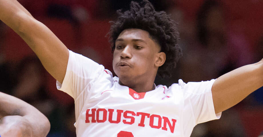 Armoni Brooks had a career-high 22 points to lead the University of Houston to an 81-53 win over McNeese State in the season opener at Texas Southern's H&PE Arena. Photo: Wilf Thorne/For The Chronicle