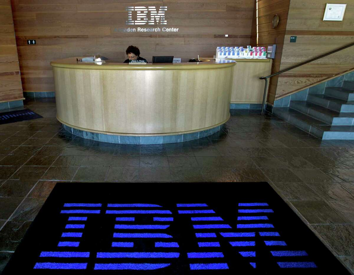 A welcome mat features an International Business Machines Corp. (IBM) logo in the lobby of the IBM Almaden Research Center campus in San Jose, California, U.S., on Wednesday, July 14, 2010. IBM, the world's biggest computer services company, reported sales that missed analysts' estimates as the falling euro weighed on revenue. Revenue last quarter climbed 2 percent to $23.7 billion. Photographer: Tony Avelar/Bloomberg