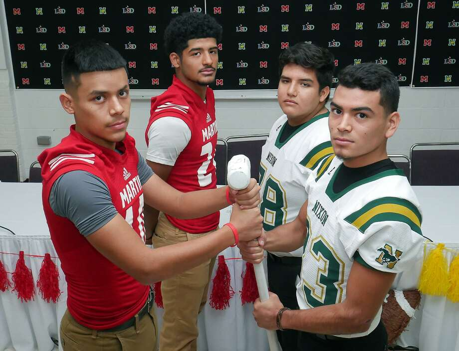 Future additions of the Hammer Bowl will be a non-district matchup as Laredo's oldest rivals head to separate classifications. Nixon is moving up to 6A while Martin will be in 5A Division I in the 2018 realignment. Photo: Cuate Santos /Laredo Morning Times File / Laredo Morning Times