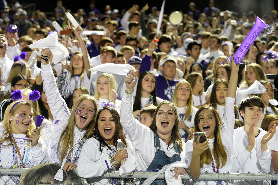 Port Neches-Groves fans cheer during the Mid-County Madness rivalry game against Nederland at Bulldog Stadium on Friday night.  Photo taken Friday 11/10/17 Ryan Pelham/The Enterprise Photo: Ryan Pelham / ©2017 The Beaumont Enterprise/Ryan Pelham