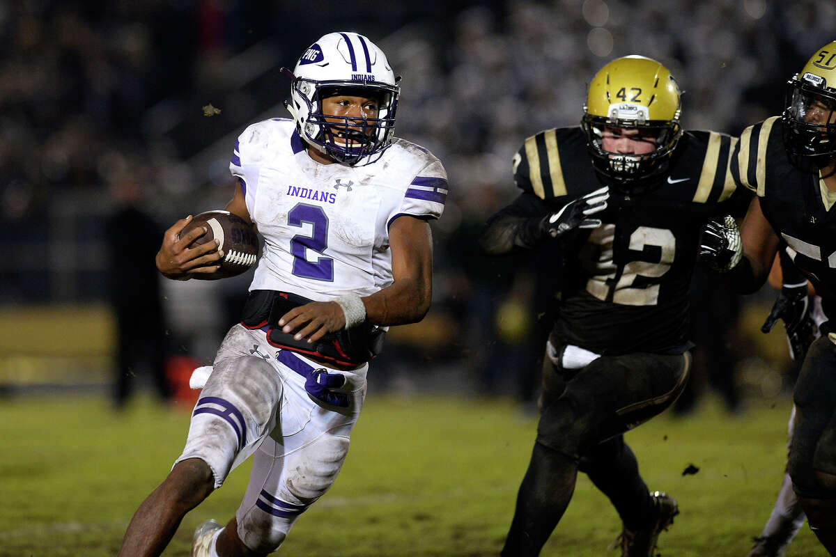 Roschon Johnson School: Port Neches-Groves Position: Quarterback Notes: Johnson was unstoppable - he rushed for 292 yards and five touchdowns - in Port Neches-Groves' 36-35 loss to Nederland.