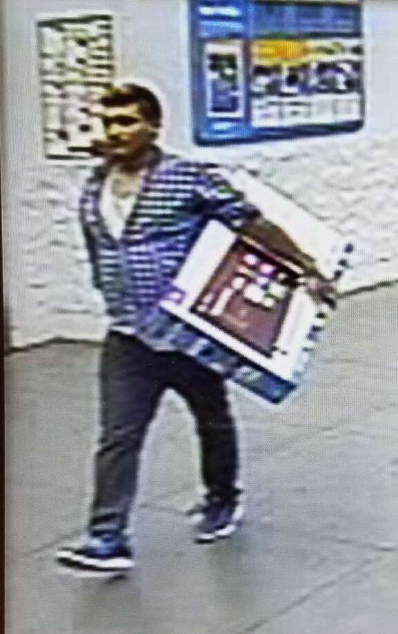 Laredo police are asking for the community's help in identifying this man suspected of stealing a television from a local Wal-Mart. Photo: Laredo Police/Courtesy