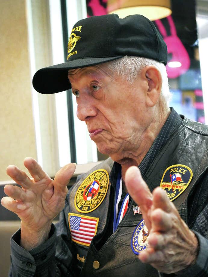 World War II veteran Henry Boubel served in the U.S. Navy. Photo: Cuate Santos/Laredo Morning Times