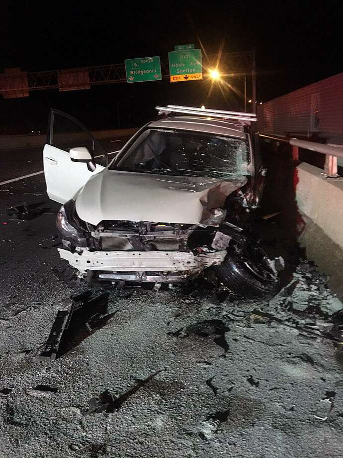 A 40-year-old Stratford woman is facing multiple charges after allegedly causing a head-on collision while traveling the wrong way down Route 8 in Derby, Conn., on Nov. 10, 2017. Photo: Contributed Photo / Connecticut State Police / Contributed Photo / Connecticut Post Contributed