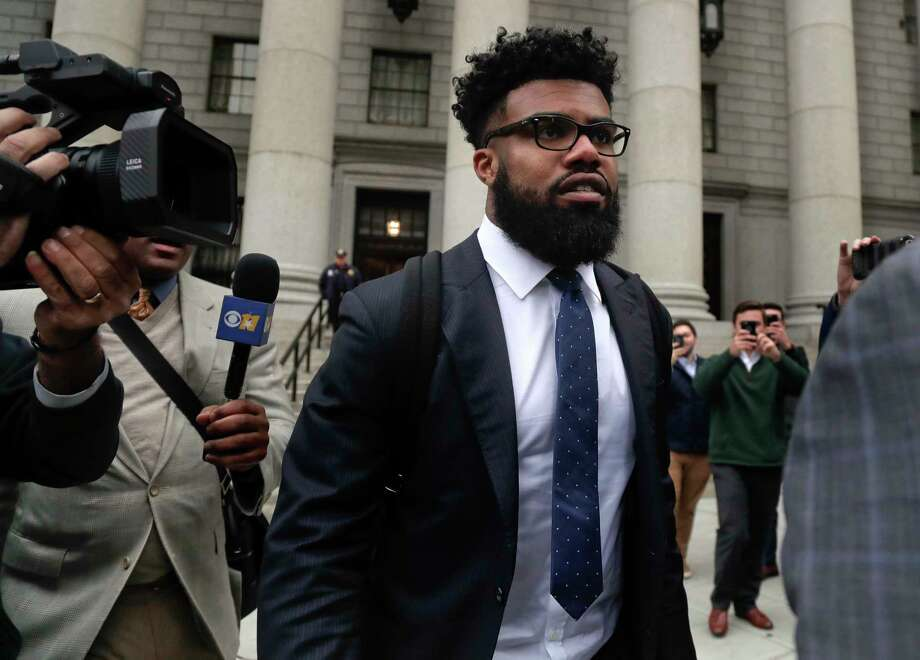 FILE - In this Thursday, Nov. 9, 2017, file photo, Dallas Cowboys NFL football star Ezekiel Elliott walks out of federal court in New York.   Elliott's half-season run from his six-game suspension ended when a federal appeals court refused to let him play while it considers his appeal. (AP Photo/Julie Jacobson, File) Photo: Julie Jacobson, STF / Copyright 2017 The Associated Press. All rights reserved.
