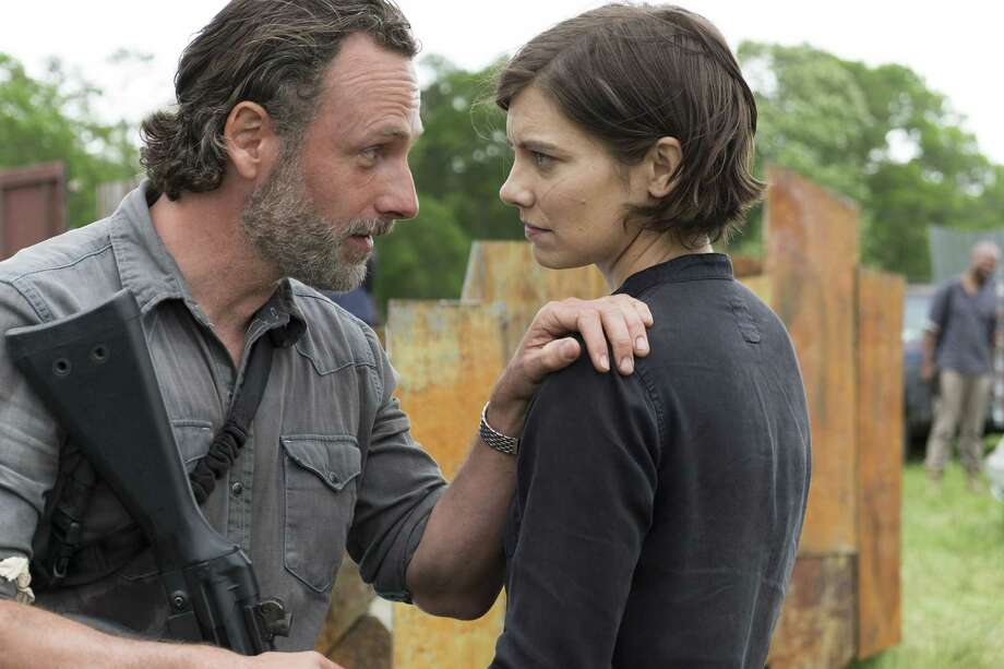 Andrew Lincoln as Rick Grimes, Lauren Cohan as Maggie Greene - The Walking Dead _ Season 8, Episode 1 - Photo Credit: Gene Page/AMC Photo: Credit: Gene Page/AMC / © 2017 AMC Film Holdings LLC. Credit: Gene Page/AMC.