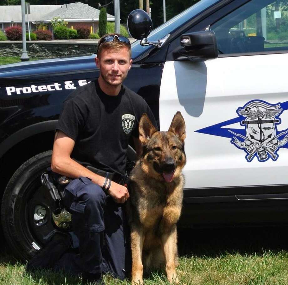 Clinton Police Department K9 officer Sonny to receive body armor. Photo: Clinton Police Department / Submitted Photo