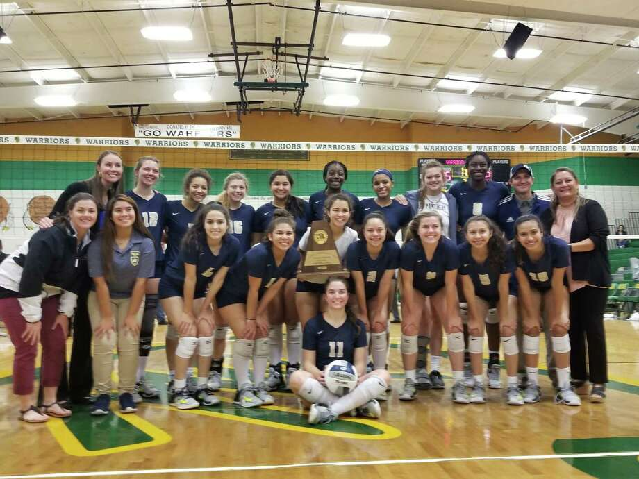 O'Connor poses after shocking No. 1 Reagan in the Region IV-6A volleyball final Saturday in McAllen. Photo: Courtesy Photo