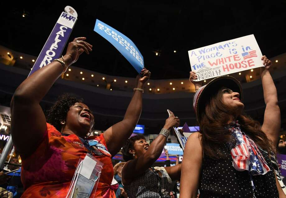 California delegates cheer at the party convention last year. Most of the state's donations went elsewhere. Photo: ROBYN BECK / Robyn Beck / AFP / Getty Images 2016 / This content is subject to copyright.