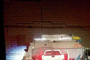 Two classrooms at Pietzsch-MacArthur Elementary were damaged when a truck crashed into the school Friday night.