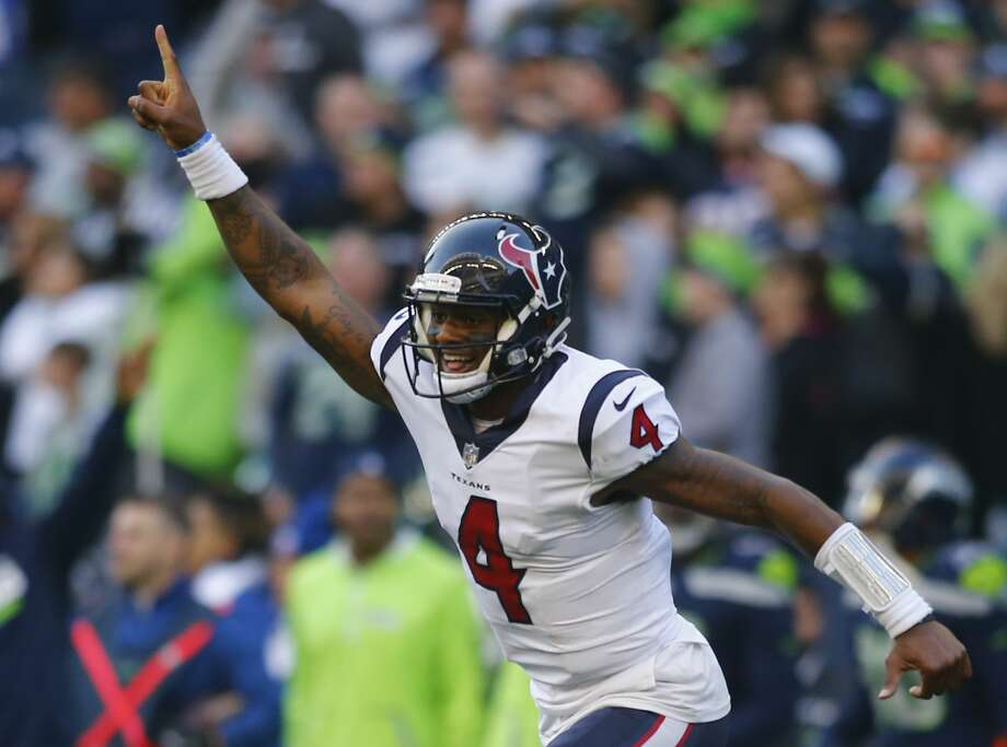 Deshaun Watson is expected to return from his knee injury to start the 2018 season. One of the players most excited for Watson to play is defensive end J.J. Watt. Photo: Jonathan Ferrey/Getty Images