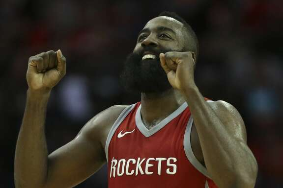 Houston Rockets guard James Harden (13) reacts to not making the basket at the end of the third quarter of an NBA game against the Memphis Grizzlies at Toyota Center on Saturday, Nov. 11, 2017, in Houston. ( Yi-Chin Lee / Houston Chronicle )