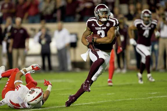 Texas A&M wide receiver Christian Kirk returns a punt 90 yards for a touchdown on Saturday night, giving him seven return scores in his career, a school record.