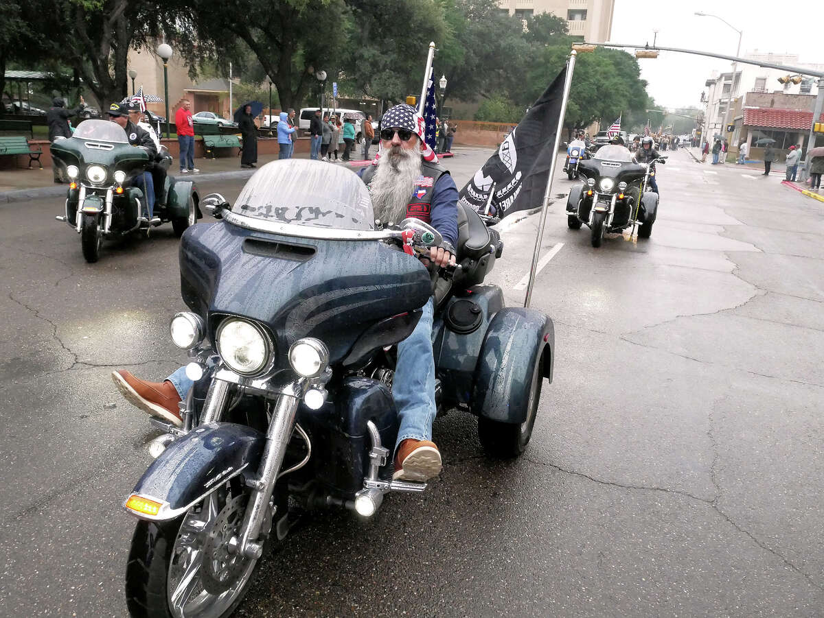 Despite a light drizzle and cool temperatures the annual Veterans Day Parade made their way through downtown Laredo from St. Peter's Plaza to San Agustin Plaza, Saturday, November 11, 2017.