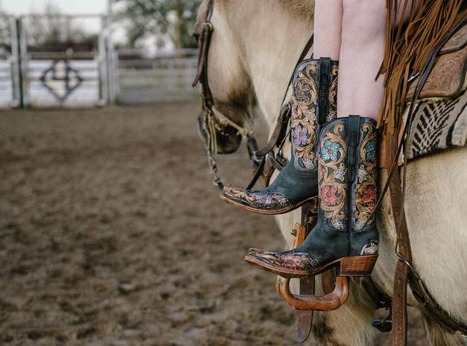 The Drea by Lucchese is striking in style and craftmanship with hand-tooled floral designs. ($2,995) Photo: /