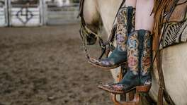 The Drea by Lucchese is striking in style and craftmanship with hand-tooled floral designs. ($2,995)