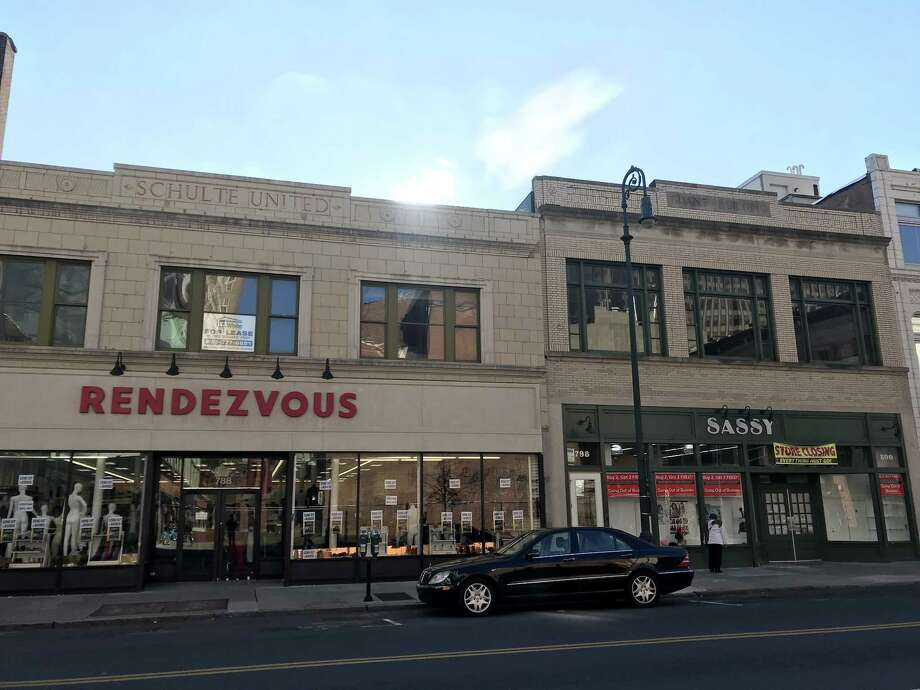 Rendezvous and Sassy Beauty Supply on Wednesday, Nov. 8, in New Haven. Both stores are shutting down this month. Photo: Esteban L. Hernandez / Hearst Connecticut Media /