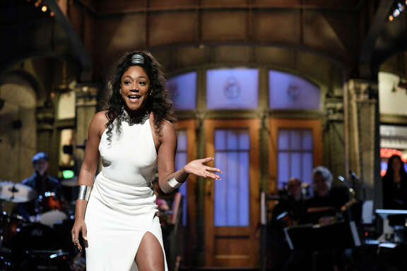 Tiffany Haddish during the opening monologue in Studio 8H on Nov. 11.