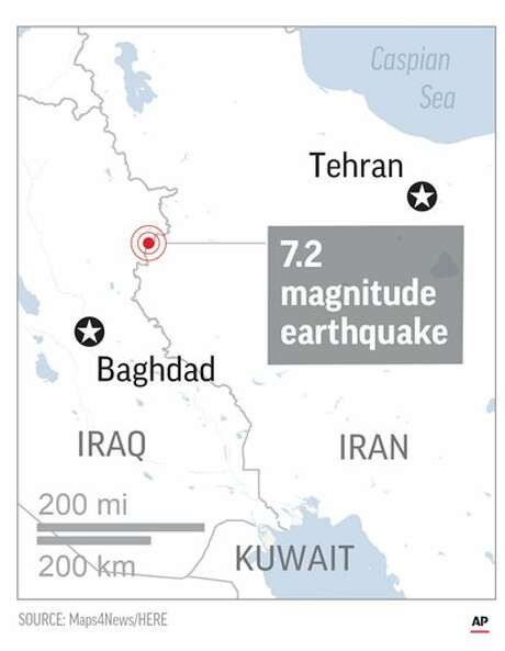 Map locates Epicenter of quake.; 1c x 3 inches; 46.5 mm x 76 mm; Photo: F.duckett/AP