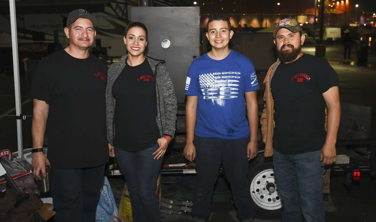 Cooking teams get ready for the 3rd Annual Laredo Big Bad BBQ Cook-off on Friday, Nov. 10, 2017 at the parking lot for the Outlet Shoppes at Laredo.