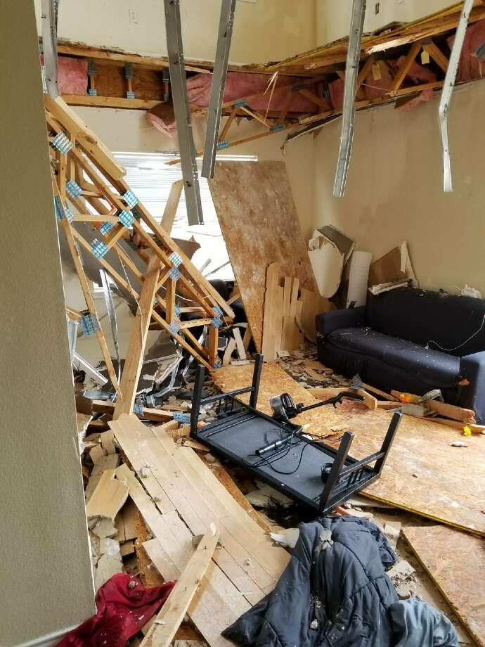 Dramatic video shows a University of North Texas apartment caving in after a dance party caused the floor to give in. Carley Carroll was among the girls who lived in the apartment that the floor landed in. Photo: Carley Carroll