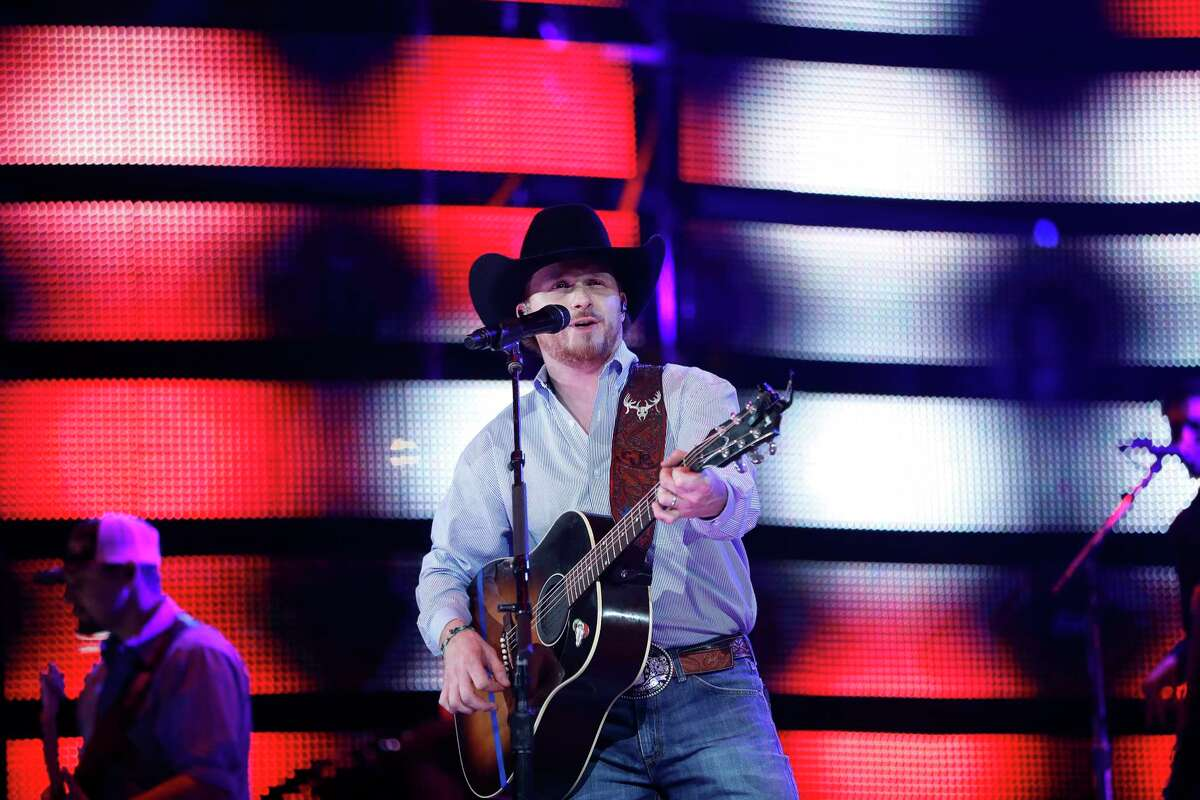 Cody Johnson performs at the Houston Livestock Show and Rodeo, at NRG Park, Wednesday, March 8, 2017, in Houston. ( Karen Warren / Houston Chronicle )