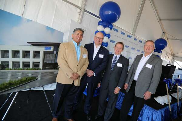 Jerry Morales, Mayor of Midland, Jon Stanton, Chief Executive Officer of Weir Group, Brent Hilliard, Midland Development Corporation Chairman and   Paul Coppinger, Weir Oil & Gas President.