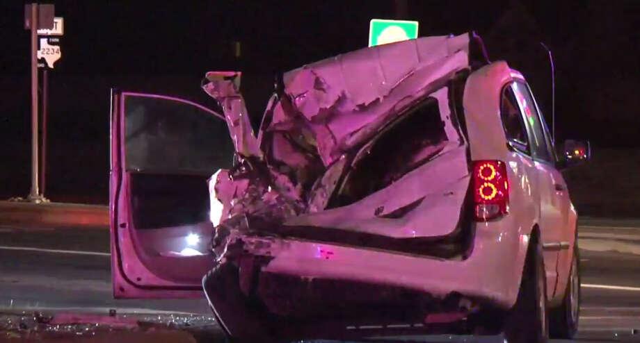 Fatal vehicle crash Monday. Photo: Metro Video