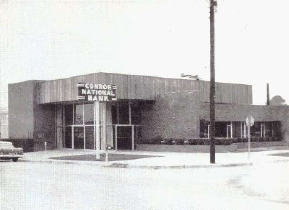 The Conroe National Bank, located at the corner of Simonton and San Jacinto streets in downtown Conroe, was created around 1951.