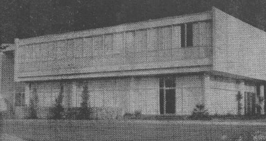 The Conroe Federal Savings & Loan Association in November 1961. The facility was a great source of pride for the downtown Conroe area. In 1996, the property was purchased by Woodforest Bank and renovated to serve as a downtown Conroe branch for the bank.