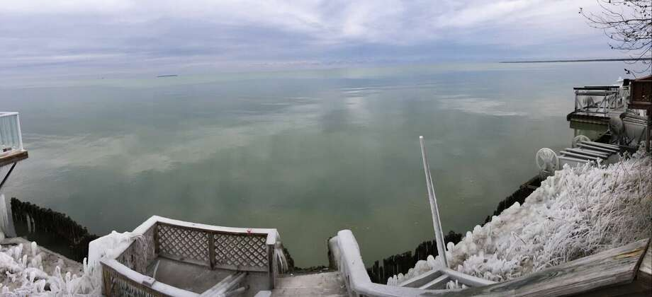 Frozen shoreline image Photo: Michele Sahutske