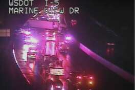 A fatal crash shut down southbound Interstate 5 for hours early Monday morning.