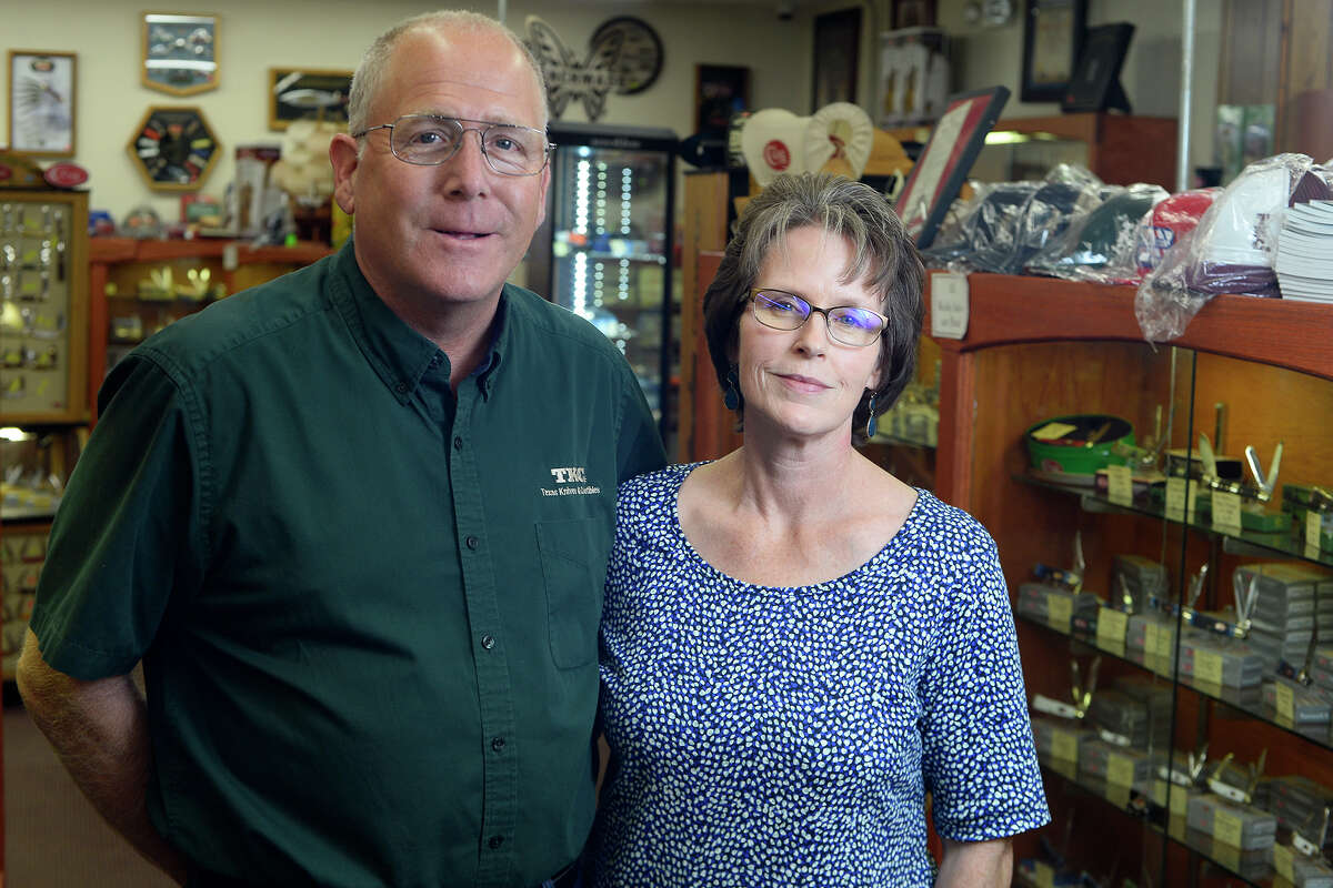 Marvin and Kathy Mott own Texas Knives and Collectibles in Spurger, which has been named the Knife Capital of Texas. They started the hardware and feed store in 1980 and began selling knives in 1992. Photo taken Friday 11/3/17 Ryan Pelham/The Enterprise