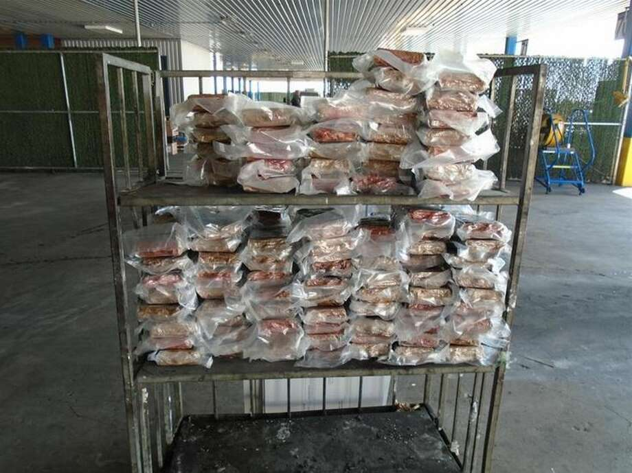 This photo shows over 400 pounds of cocaine that was seized by CBP officers Thursday at the World Trade Bridge.   Photo: CBP