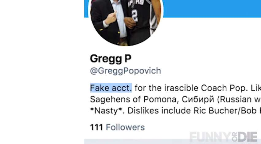 Pro: He doesn't own a Twitter account