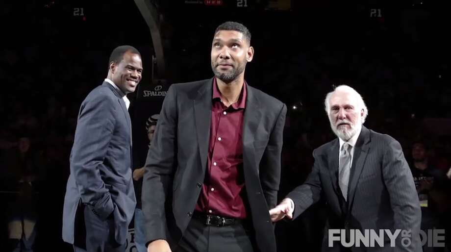 "Pro: Pop cares about the eldery""Allowing Tim Duncan to play on his team well into his 80's.""  Photo: Funny Or Die, The Rich Eisen Show Screengrabs"