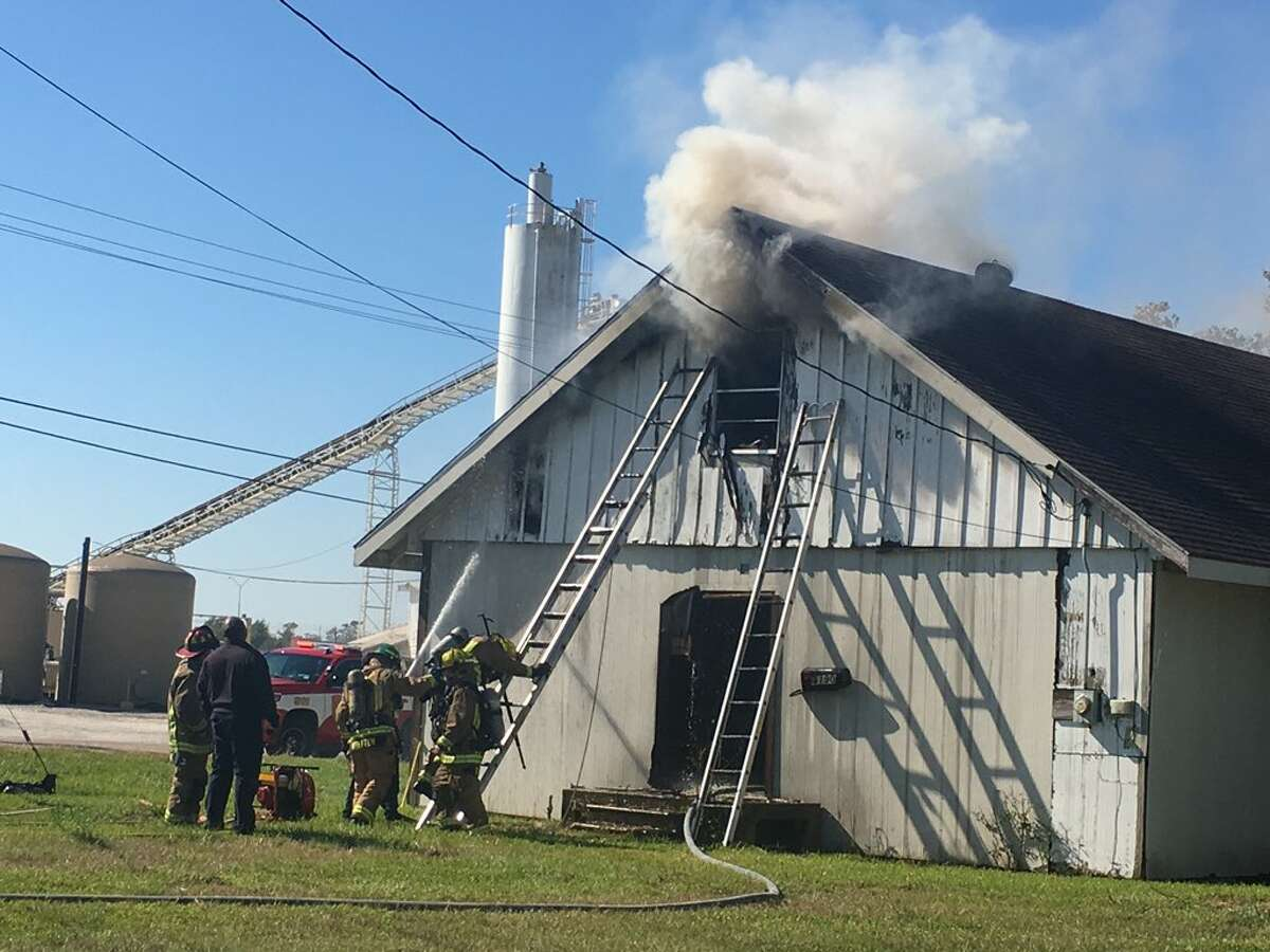 Beaumont emergency crews work to extinguish a fire at an abandoned church on Jim Gilligan Way Monday, November 13, 2017. Photo: Morgan Gstalter/The Enterprise