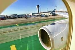 Landing at San Francisco International on a Cathay Pacific Airbus A350