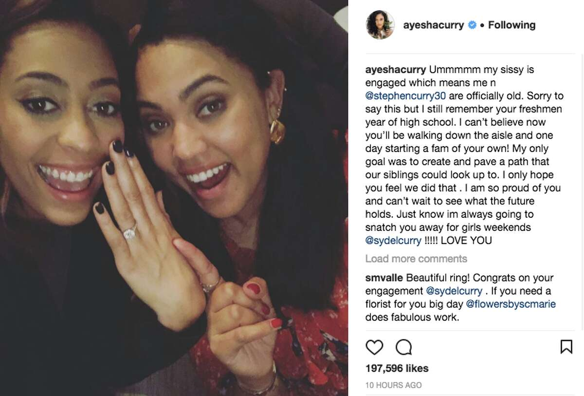 Sydel Curry announces her engagement to Damion Lee on Instagram.