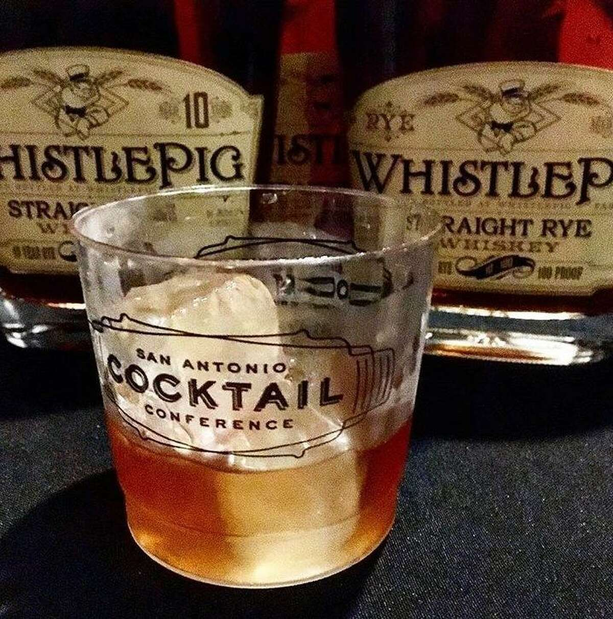 A Vieux Carre made with WhistlePig rye presented at the San Antonio Cocktail Conference's Stroll on Houston Street last year.