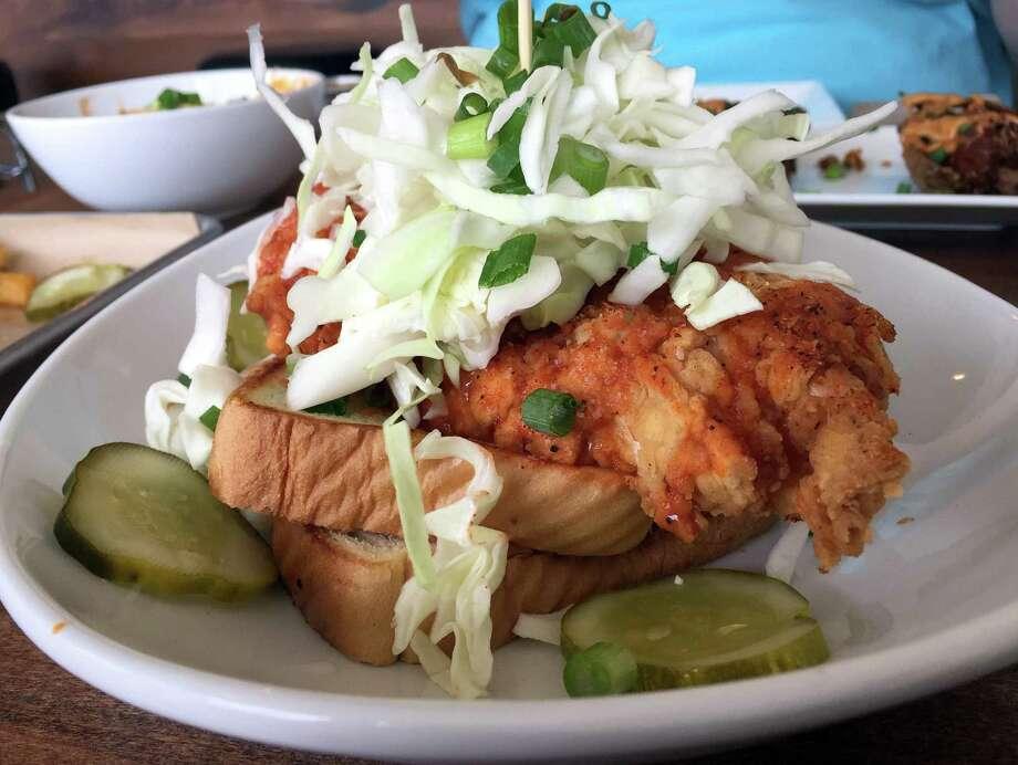 The Nashville Hot Chicken Torta at The Point on N. Main. Photo: Paul Stephen / San Antonio Express-News