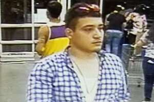 LPD released surveillance video photos of the man accused of stealing a TV from Wal-Mart.